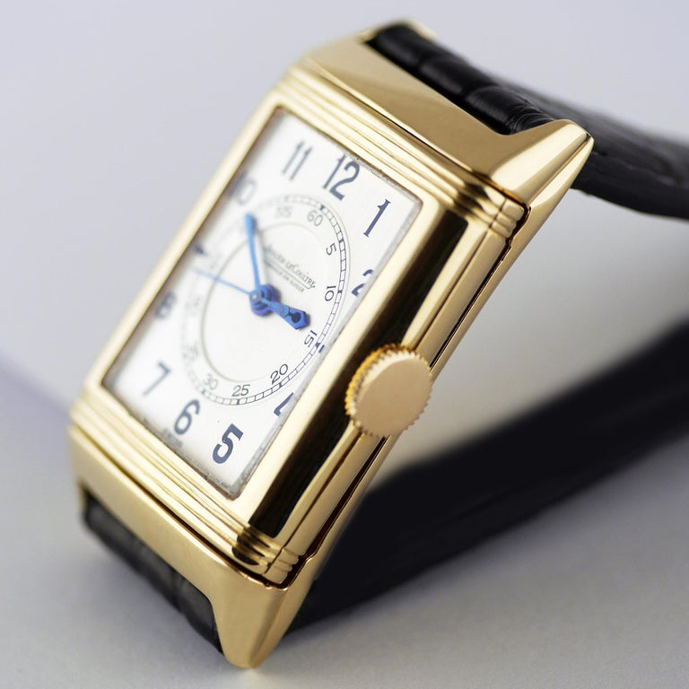 Jaeger Le Coultre Reverso, Art Deco, 9 Carat Gold, 1938 In Excellent Condition For Sale In London, GB