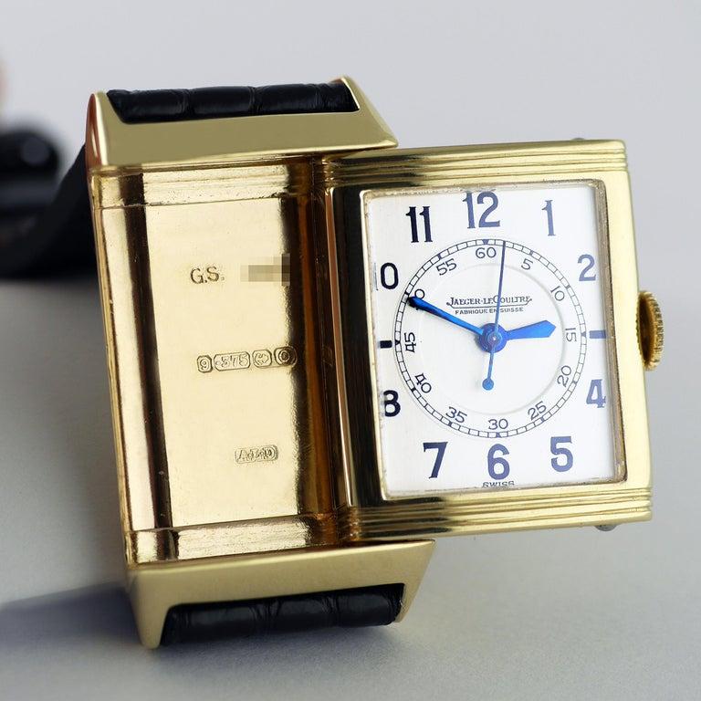Jaeger Le Coultre Reverso, Art Deco, 9 Carat Gold, 1938 For Sale 1