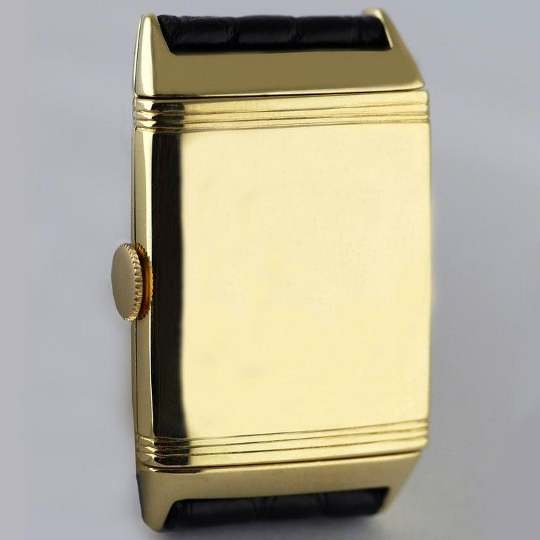 Jaeger Le Coultre Reverso, Art Deco, 9 Carat Gold, 1938 For Sale 3