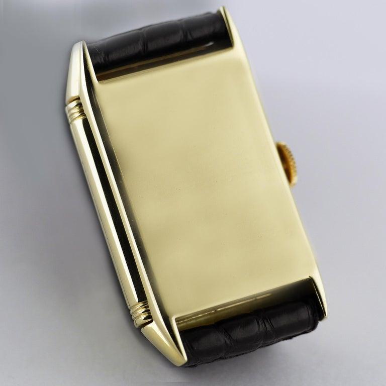 Jaeger Le Coultre Reverso, Art Deco, 9 Carat Gold, 1938 For Sale 4