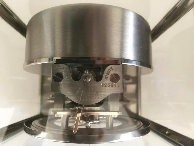 Jaeger-LeCoultre Rhodium-Plated Royale Atmos Clock, circa 1974 For Sale 1