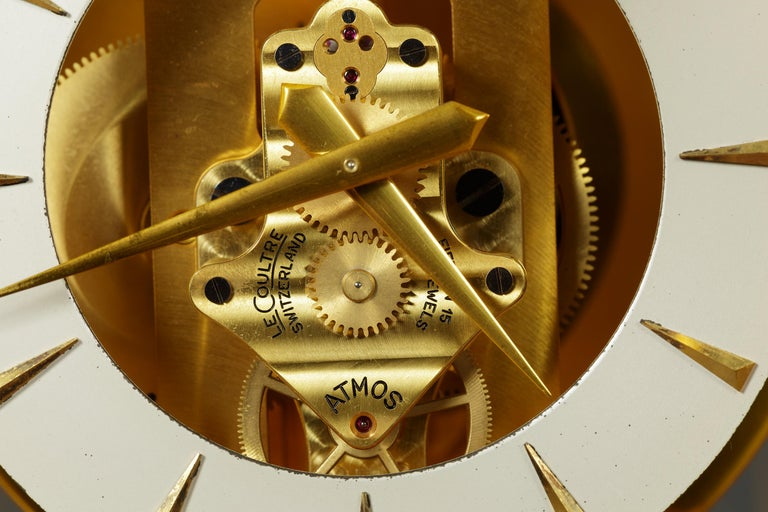 Swiss Jaeger Le Coultre Tuxedo Atmos Clock For Sale