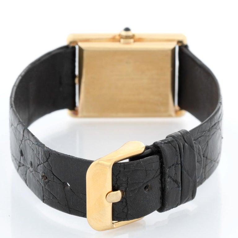 Jaeger-LeCoultre Vintage 18 Karat Gold Square Men's Watch 6029.21 In Excellent Condition For Sale In Dallas, TX