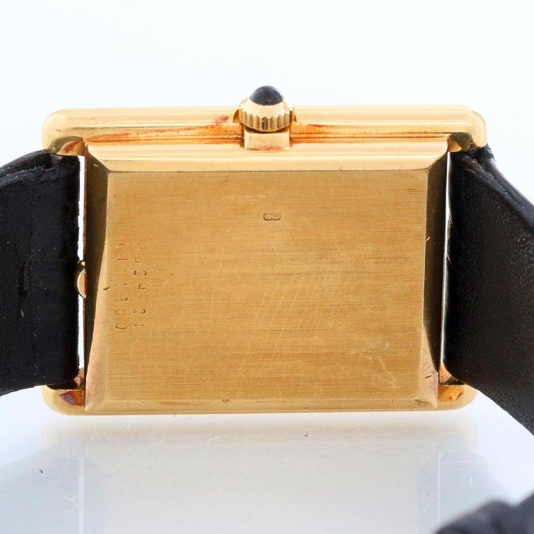 Jaeger-LeCoultre Vintage 18 Karat Gold Square Men's Watch 6029.21 For Sale 1