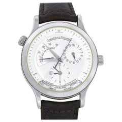 Jaeger-LeCoultre 142.8.92 Master Geographic Stainless Steel Watch