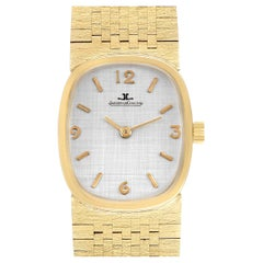 Jaeger LeCoultre 14k Yellow Gold Manual Vintage Mens Watch