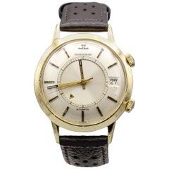 Jaeger-LeCoultre 18 Karat Gold Vintage Memovox Wristwatch