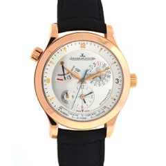 Jaeger Lecoultre 18 Karat Rose Gold Master Control Geograph Watch