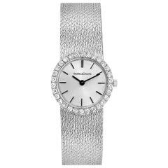 Jaeger LeCoultre 18 Karat White Gold Diamond Vintage Cocktail Ladies Watch