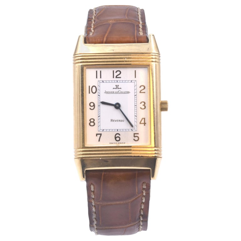 Jaeger-LeCoultre 18 Karat Yellow Gold Reverso Watch Ref. 250.1.86 For Sale