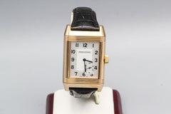 JAEGER LeCOULTRE 18K Rose Gold Grande Power Reserve Reverso Wristwatch w/Seconds