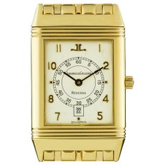 Jaeger-LeCoultre 18k Yellow Gold Mid-Size Reverso B&P 140.255.1