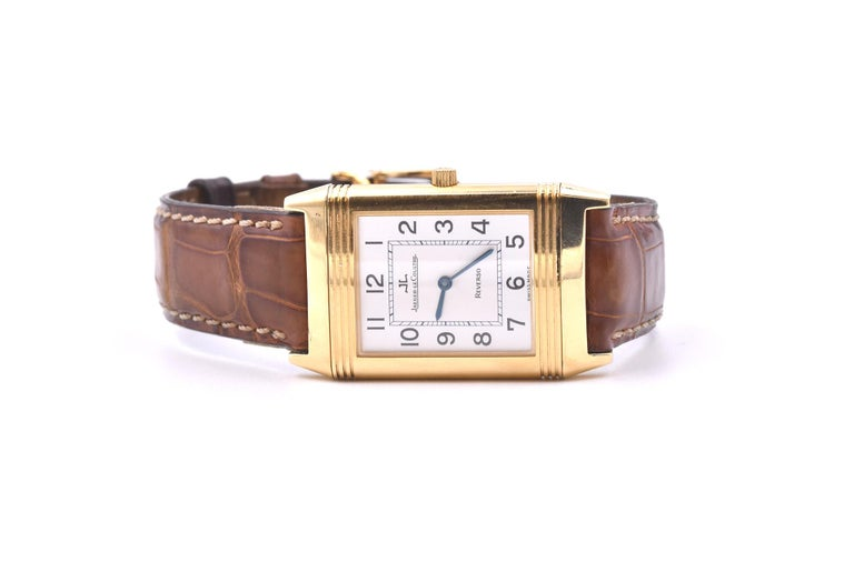 Jaeger-LeCoultre 18 Karat Yellow Gold Reverso Watch Ref. 250.1.86 In Excellent Condition For Sale In Scottsdale, AZ