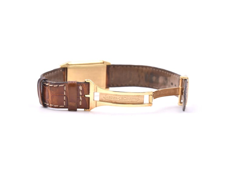 Women's or Men's Jaeger-LeCoultre 18 Karat Yellow Gold Reverso Watch Ref. 250.1.86 For Sale