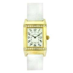 Jaeger LeCoultre 265.1.08 Reverso Diamond Bezel Women's Watch