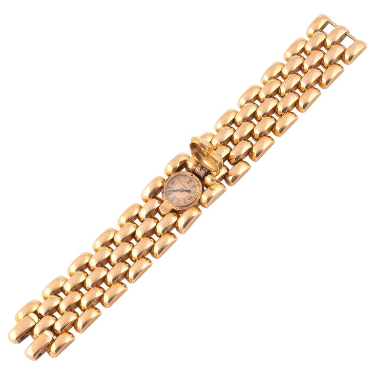 Jaeger-LeCoultre, a Ladies Gold Manual Wind Cocktail Bracelet Watch For Sale