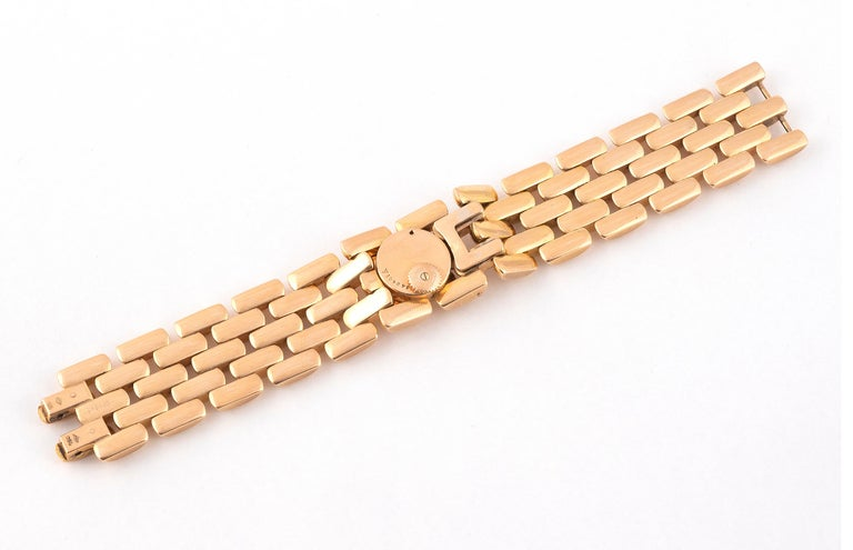 Retro Jaeger-LeCoultre, a Ladies Gold Manual Wind Cocktail Bracelet Watch For Sale