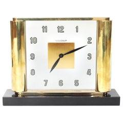Jaeger-LeCoultre Art Deco Desk Clock with Original Mechanism Swiss, circa 1930