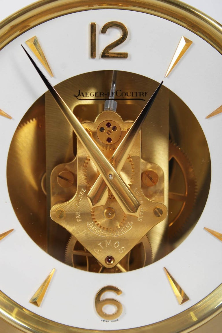 Jaeger-LeCoultre Atmos Clock, Cal. 526 Classic, Midcentury, 1966 In Excellent Condition For Sale In Greven, DE