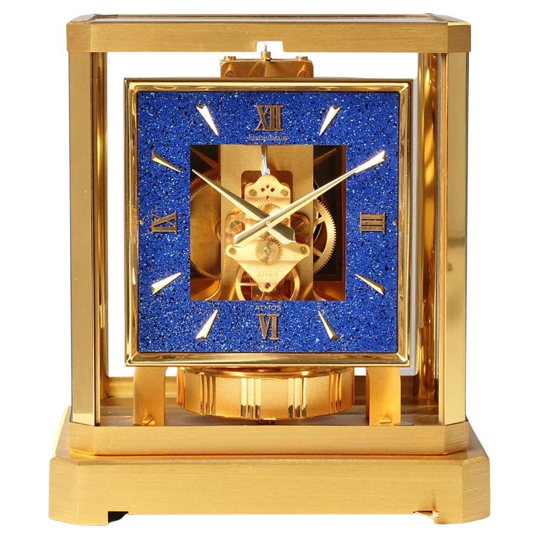Jaeger LeCoultre Atmos Clock, Lapislazuli Blue Dial, Kal. 528, Year 1979 For Sale