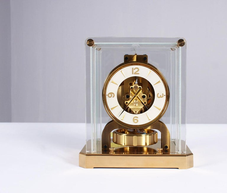 Jaeger-LeCoultre Atmos Clock, Plexi, circa 1956 In Excellent Condition In Greven, DE