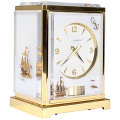 Jaeger Lecoultre, Atmos Clock, Plexi Gravé, White, Opal, 1964