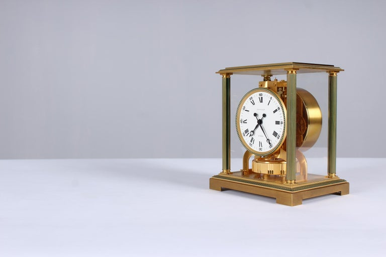 Mid-Century Modern Jaeger-LeCoultre Atmos Clock, Vendome, circa 1979 For Sale