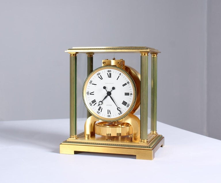 Swiss Jaeger-LeCoultre Atmos Clock, Vendome, circa 1979 For Sale