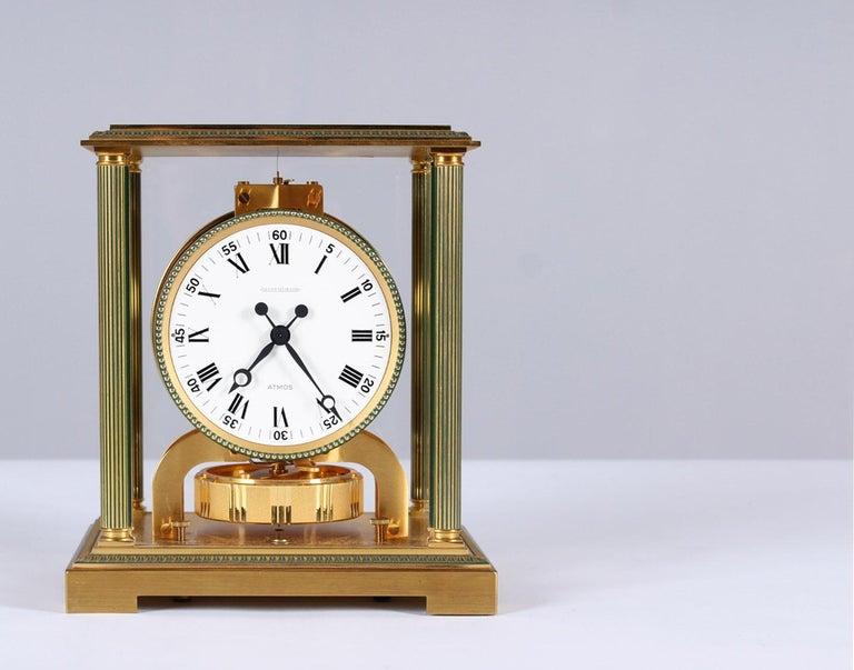 Gilt Jaeger-LeCoultre Atmos Clock, Vendome, circa 1979 For Sale