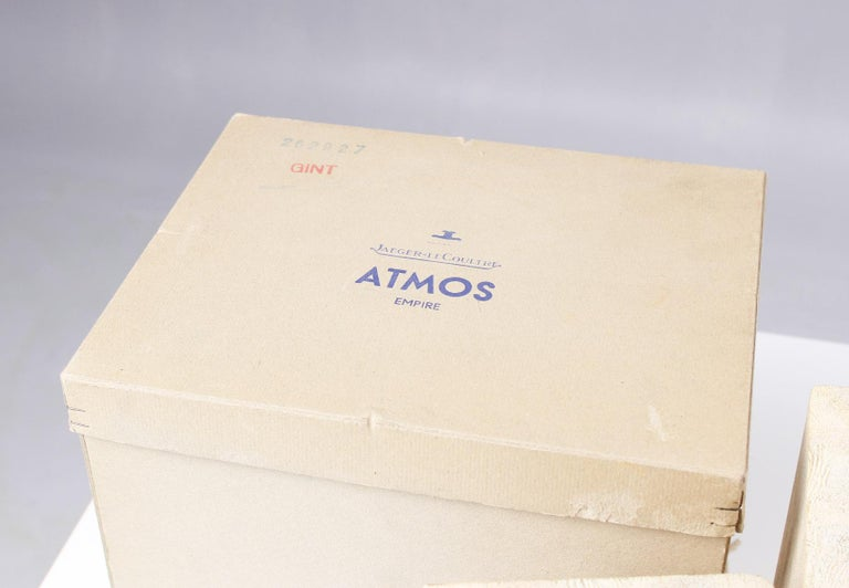 Jaeger LeCoultre, Atmos Vendome, 1968, Marble Base, Original Box For Sale 3