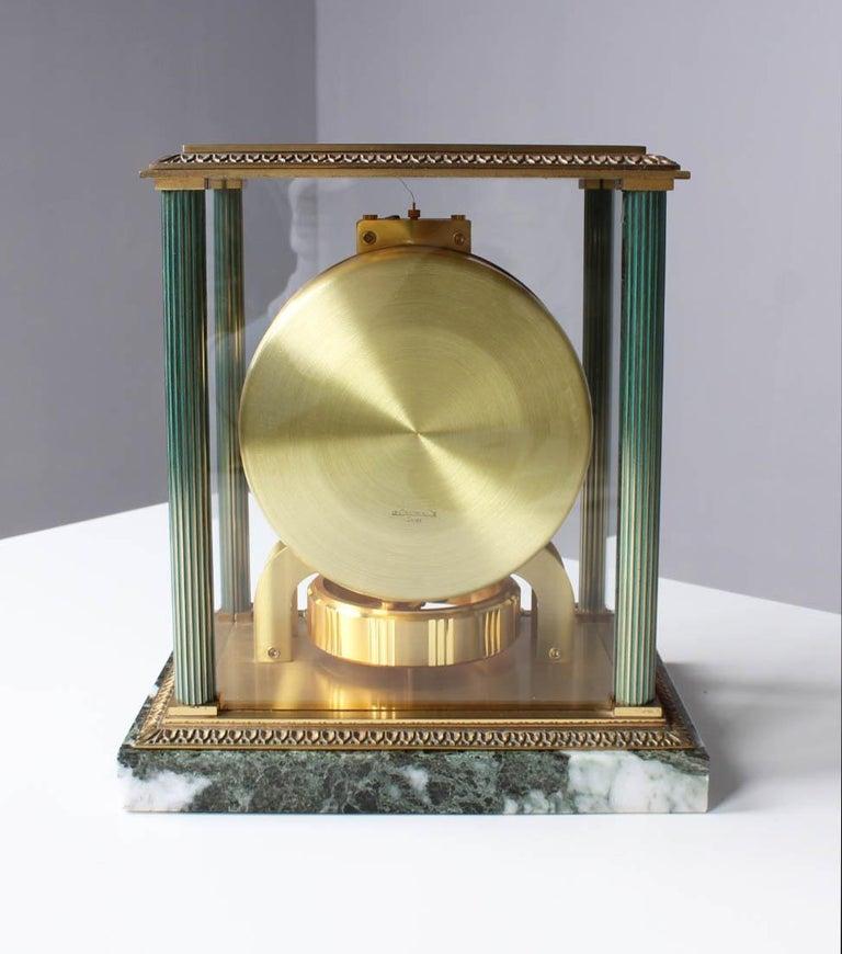 Jaeger LeCoultre, Atmos Vendome, 1968, Marble Base, Original Box For Sale 5
