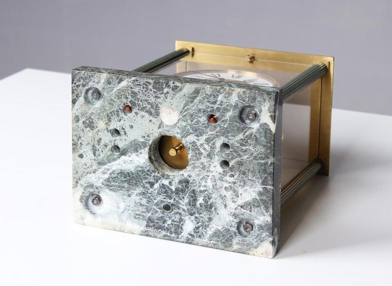Jaeger LeCoultre, Atmos Vendome, 1968, Marble Base, Original Box For Sale 9