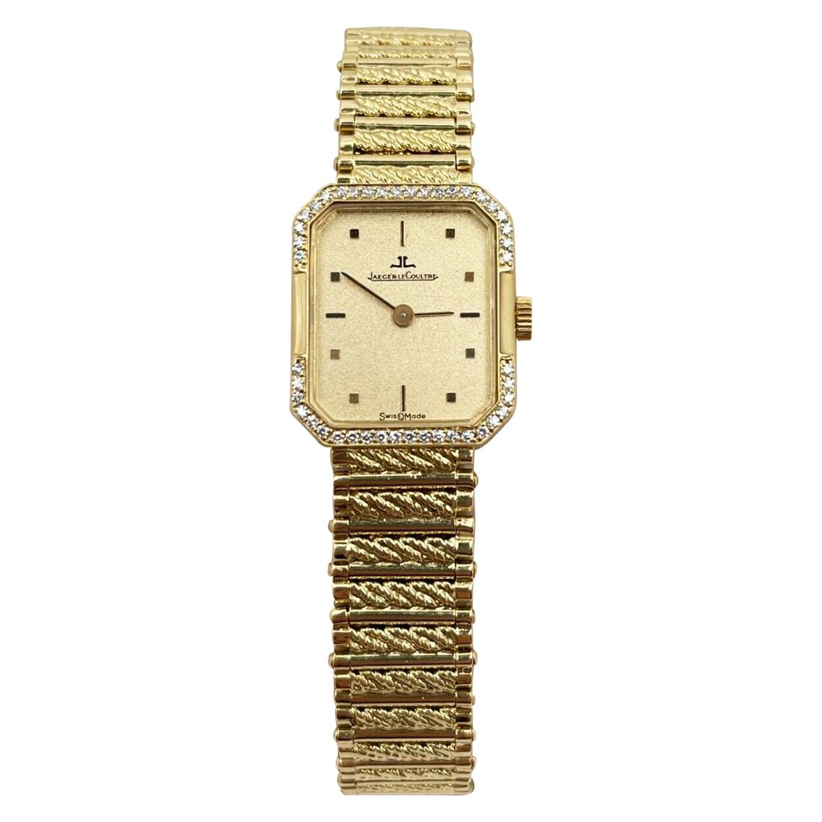 Jaeger-LeCoultre Diamond Bezel Ladies Watch 18 Karat Yellow Gold Watch