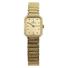 Jaeger-LeCoultre Diamond Bezel Ladies Watch 18 Karat Yellow Gold Watch