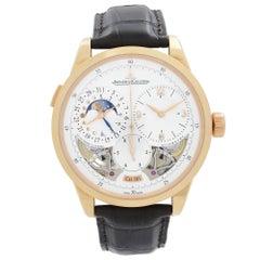 Jaeger LeCoultre Duometre A Quantieme Lunaire 18K Gold Beige Dial Watch Q6042420