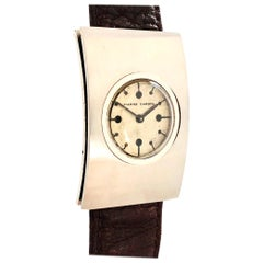 Jaeger LeCoultre for Pierre Cardin 1970s Large Steel Mechanical Wristwatch