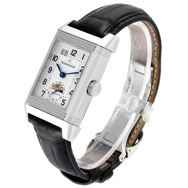 Men's Jaeger LeCoultre Grande Reverso Date Watch 240.8.72 Q3038420 Box Papers For Sale