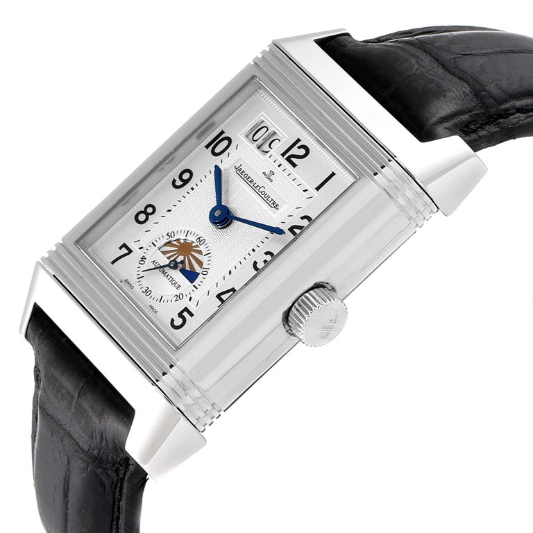 Jaeger LeCoultre Grande Reverso Date Watch 240.8.72 Q3038420 Box Papers For Sale 1