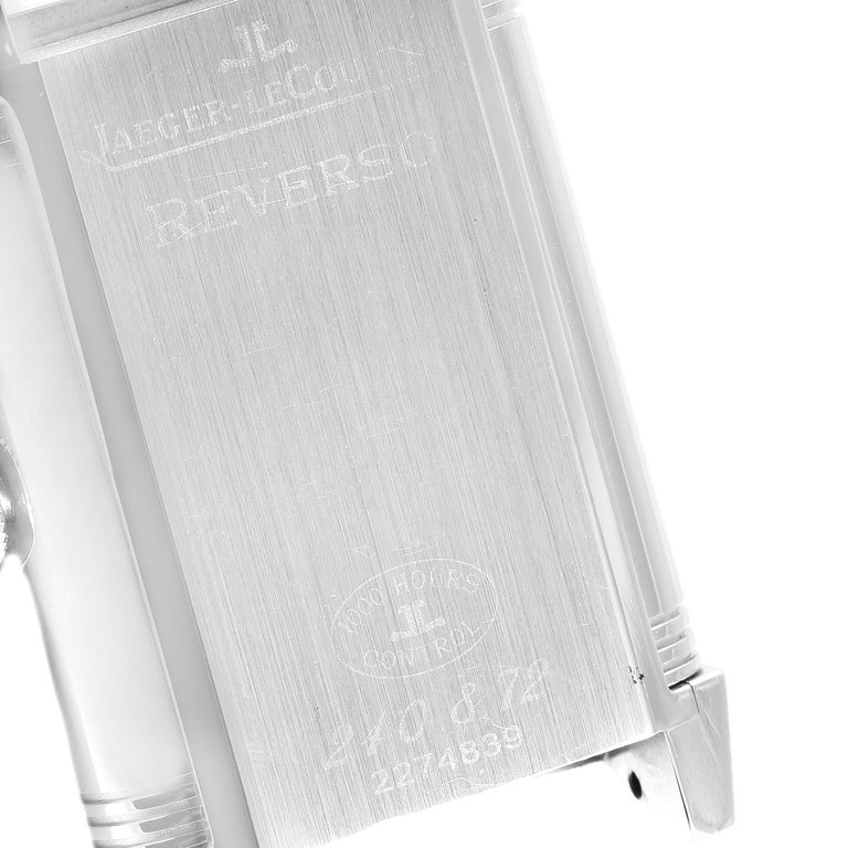 Jaeger LeCoultre Grande Reverso Date Watch 240.8.72 Q3038420 Box Papers For Sale 2