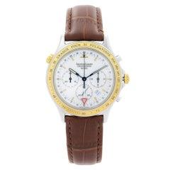 Jaeger-LeCoultre Heraion Chronograph Steel Gold Quartz Mens Watch 116.5.33