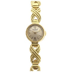 Jaeger-LeCoultre Ladies Yellow Gold Mechanical 1950s Bracelet Watch