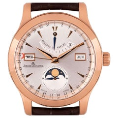 Jaeger-LeCoultre Master Calendar Gents 18k Rose Gold Silver Dial B&P 147.2.41.S