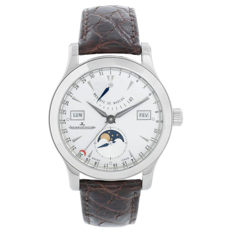 Jaeger-LeCoultre Master Calendar Men's Stainless Steel Watch 151.84.2A 147.8.41S For Sale
