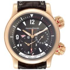 Jaeger Lecoultre Master Compressor World TimeRose Gold Watch 146.2.83