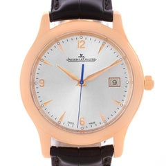 Jaeger-LeCoultre Master Control 18 Karat Rose Gold Date Men's Watch Q147237S
