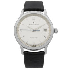 Jaeger LeCoultre Master Control Date Steel Gold Silver Dial Men's Watch 140.8.89
