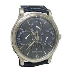 Jaeger LeCoultre Master Control Platinum Perpetual Calendar Men's Watch 140.6.80