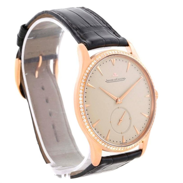 Jaeger-LeCoultre Master Control Rose Gold Diamond Watch Q1352502 For Sale 5