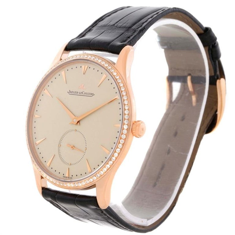 Jaeger-LeCoultre Master Control Rose Gold Diamond Watch Q1352502 For Sale 7