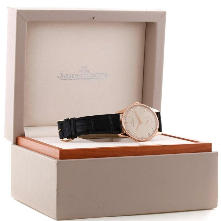 Jaeger-LeCoultre Master Control Rose Gold Diamond Watch Q1352502 For Sale 8